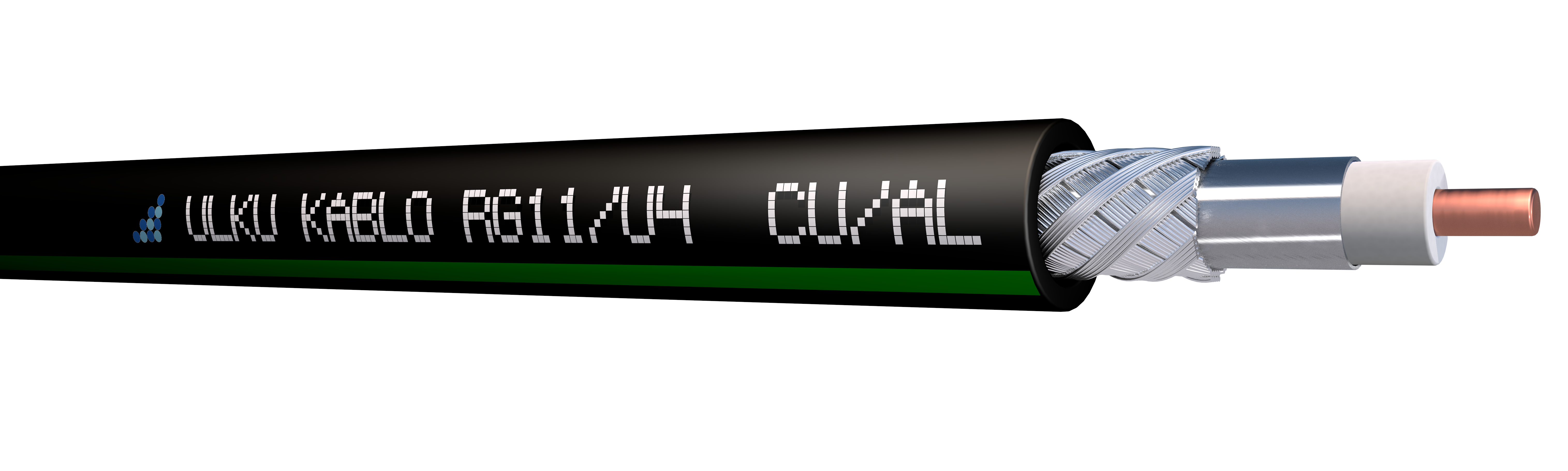 Ülkü Kablo RG 11/U-4 (CU/AL)  P.E.
