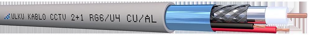 Ülkü Kablo 2+1 PE (RG6/U4 + 2x0.75 mm² ) CU/AL