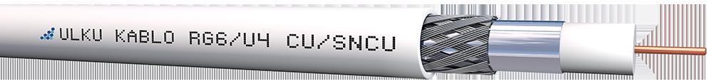 Ülkü Kablo RG 6/U-4 (CU/SNCU)  P.E.